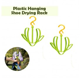 OSUKI Plastic Hanging Shoe Drying Rack (Green) (x2)