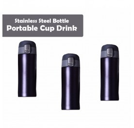 OSUKI 500ml Stainless Steel Bottle Portable Cup Drink Hot or Cold (Black Purplish) (X3)