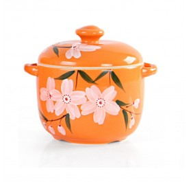 OSUKI Heat Resistant Ceramic Stew Pot (Orange)