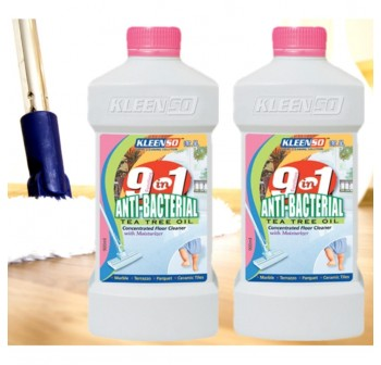 2 x KLEENSO 9 in 1 Anti-Bacterial Tea Tree Oil Floor Cleaner 900G (Pink)