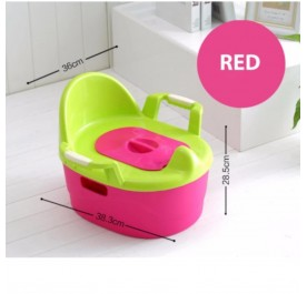 OSUKI Japan Quality Baby Potty Toilet Bowl Chair (Red)