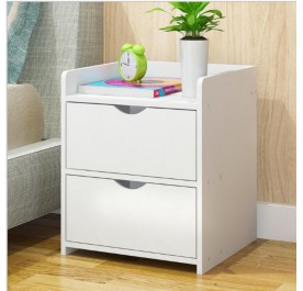 OSUKI Japan Quality Modern Bedside Drawer Table (White)