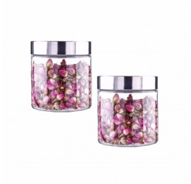 OSUKI 800ml Food Container Glass Jar Sealed With Lid (X2)