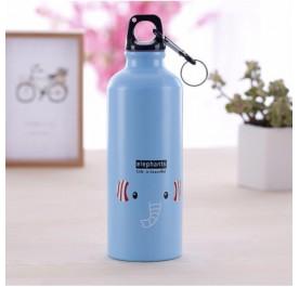 OSUKI 500ml Colorful Cartoon Water Bottle (Blue Elephant)