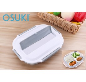 OSUKI Stainless Steel Insulation Sub Grid Lunch Box