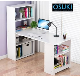 OSUKI Home Office Table With Bookshelf