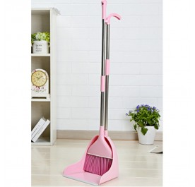 OSUKI Japan Quality 2 in 1 Attractive Broom and Dustpan (Pink)