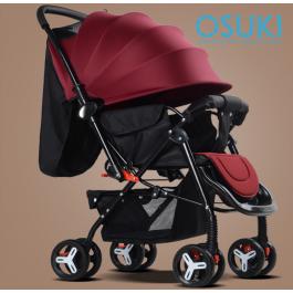 OSUKI Japan Quality Flexi Foldable Baby Stroller (Front/Back Facing)