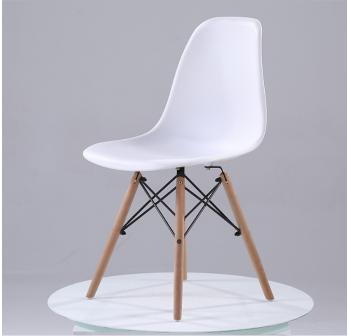 OSUKI Japan Quality Eames Chair White Seat Natural Wood Legs Chair