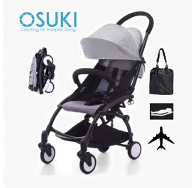 OSUKI Compatto Light Weight Stroller (FREE Bag) Compact One-Hand Fold Baby Stroller