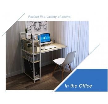 OSUKI Home Office Table 115 x 55cm Attached Bookshelf H115