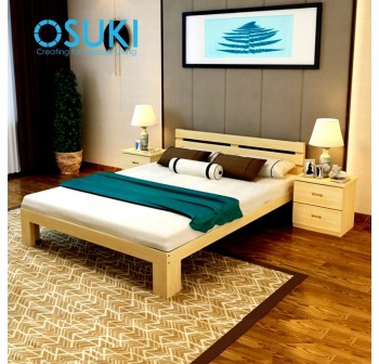 OSUKI Pine Wood Queen Size Bed Frame 200 x 150cm