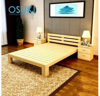 OSUKI Pine Wood Single Size Bed Frame 190 x 90cm