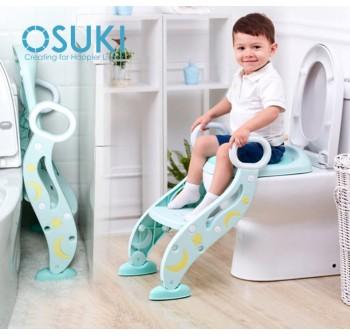 OSUKI Foldable Baby Toilet Seat With Ladder