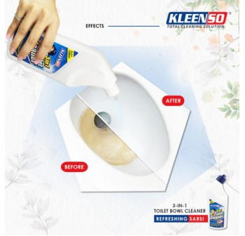 KLEENSO Toilet Bowl Cleaner 3 in 1 - 600ml
