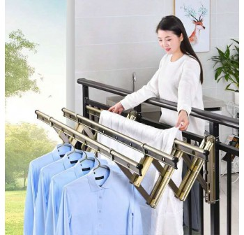 OSUKI Aluminium Wall Drying Rack Clothes Hanger With 18 Holes (1M x 3Bar)
