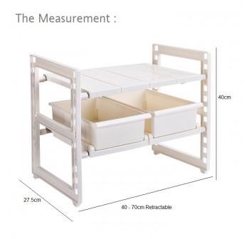 OSUKI Expandable Under Sink Storage Drawer Rack