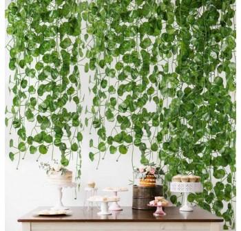 OSUKI Artificial Plant Leaf Home Décor (5 Rolls)