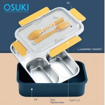 OSUKI 304 Stainless Steel Lunch Box (FREE Spoon Set)