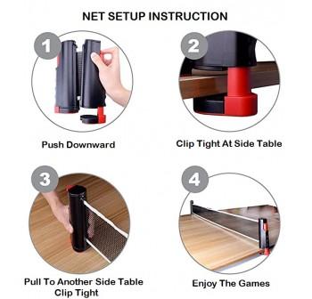 OSUKI Table Tennis Set Racket Ping Pong Net (10 in 1)