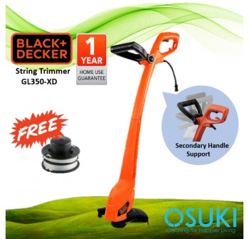 BLACK & DECKER Grass Cutter String Trimmer 350W GL350-XD