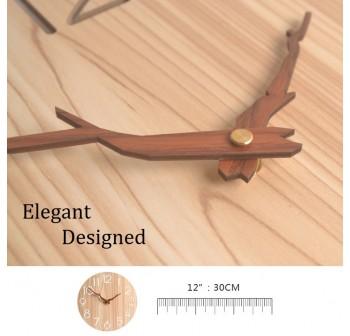 OSUKI Wall Clock 30cm Fiber Wood W7